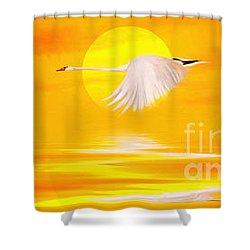Mute Sunset Shower Curtain by John Edwards