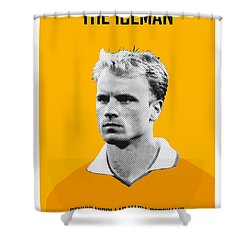 My Bergkamp Soccer Legend Poster Shower Curtain by Chungkong Art