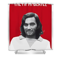 My Best Soccer Legend Poster Shower Curtain by Chungkong Art