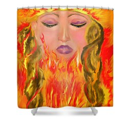 My Burning Within Shower Curtain by Lori  Lovetere