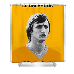 My Cruijff Soccer Legend Poster Shower Curtain by Chungkong Art