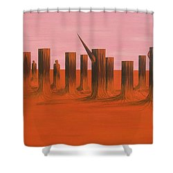My Dreamtime 3 Shower Curtain by Tim Mullaney