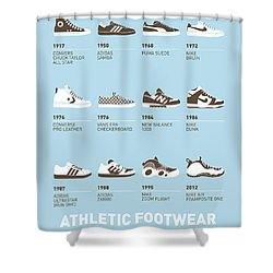 My Evolution Sneaker Minimal Poster Shower Curtain by Chungkong Art