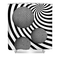 My Eyes Hurt Shower Curtain by Steve Purnell