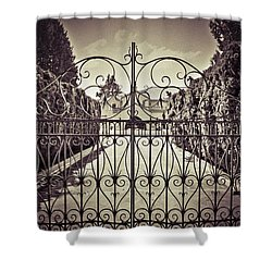 My Home Is My Fortress Vintage Shower Curtain by Eti Reid