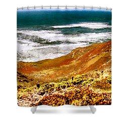 My Impression Of California Coastline Shower Curtain by Bob and Nadine Johnston