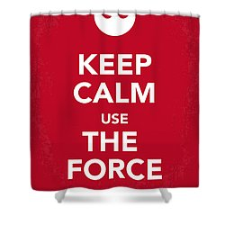 My Keep Calm Star Wars - Rebel Alliance-poster Shower Curtain by Chungkong Art