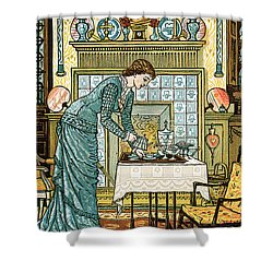 My Lady's Chamber Shower Curtain by Walter Crane
