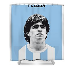 My Maradona Soccer Legend Poster Shower Curtain by Chungkong Art