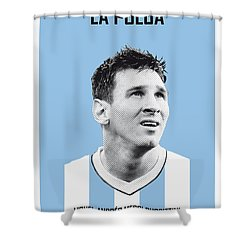 My Messi Soccer Legend Poster Shower Curtain by Chungkong Art