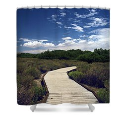 My Mind Wanders Shower Curtain by Laurie Search