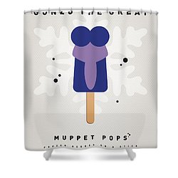 My Muppet Ice Pop - Gonzo Shower Curtain by Chungkong Art