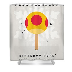 My Nintendo Ice Pop - Mega Mushroom Shower Curtain by Chungkong Art