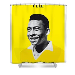 My Pele Soccer Legend Poster Shower Curtain by Chungkong Art