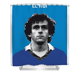My Platini Soccer Legend Poster Shower Curtain by Chungkong Art