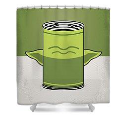 My Star Warhols Yoda Minimal Can Poster Shower Curtain by Chungkong Art