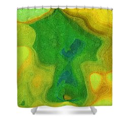 My Teddy Bear - Digital Painting - Abstract Shower Curtain by Andee Design