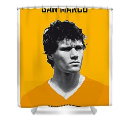 My Van Basten Soccer Legend Poster Shower Curtain by Chungkong Art