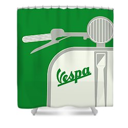 My Vespa - From Italy With Love - Green Shower Curtain by Chungkong Art