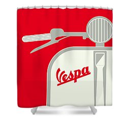 My Vespa - From Italy With Love - Red Shower Curtain by Chungkong Art