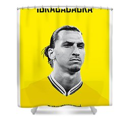 My Zlatan Soccer Legend Poster Shower Curtain by Chungkong Art