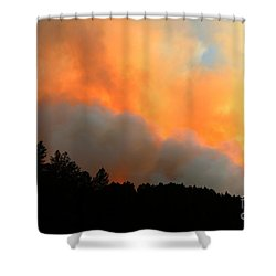 Shower Curtain featuring the photograph Myrtle Fire Near Rifle Pit Road by Bill Gabbert