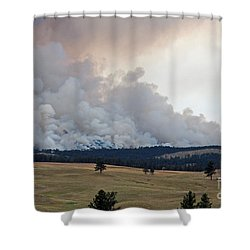 Shower Curtain featuring the photograph Myrtle Fire West Of Wind Cave National Park by Bill Gabbert