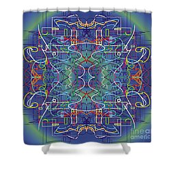 mYSL tHE tHOUGHT Shower Curtain by WouX TheBASSement