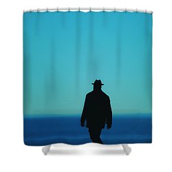 Mysterious Man Shower Curtain by Karol Livote