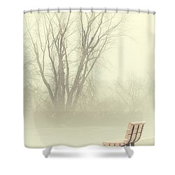 Mysterious Peace Shower Curtain by Karol Livote