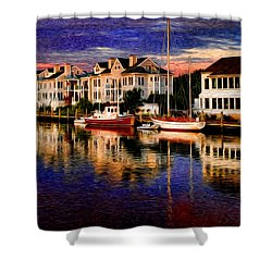 Mystic Ct Shower Curtain by Sabine Jacobs