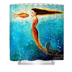 Mystic Mermaid II Shower Curtain by Shijun Munns