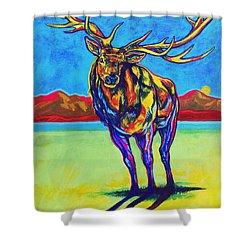 Mythical Elk Shower Curtain by Derrick Higgins