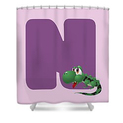 N Shower Curtain by Gina Dsgn