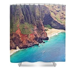 Na Pali Coast Shower Curtain by Scott Pellegrin