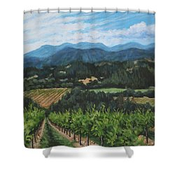 Napa Valley Vineyard Shower Curtain by Penny Birch-Williams