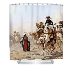 Napoleon And His General Staff Shower Curtain by Jean Leon Gerome