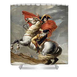 Napoleon Bonaparte On Horseback Shower Curtain by War Is Hell Store