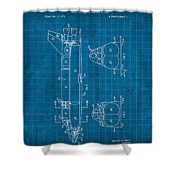 Nasa Space Shuttle Vintage Patent Diagram Blueprint Shower Curtain by Design Turnpike