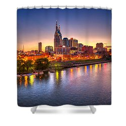 Nashville Skyline Shower Curtain by Brett Engle