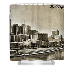 Nashville Tennessee Shower Curtain by Dan Sproul