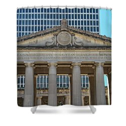 Nashville War Memorial Auditorium Shower Curtain by Dan Sproul
