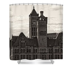 Nashville's Union Station Shower Curtain by Dan Sproul