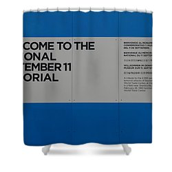 National 9/11 Memorial  Shower Curtain by Rob Hans