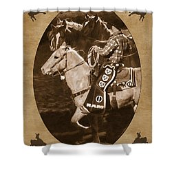 National Western Stock Show Shower Curtain by Priscilla Burgers