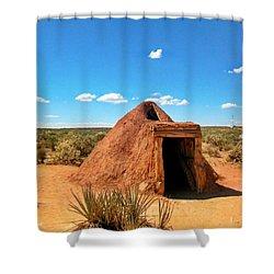 Native American Earth Lodge Shower Curtain by John Malone