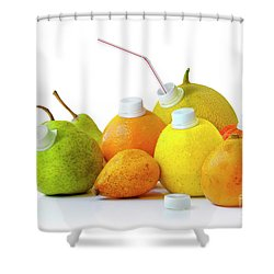 Natural Juice Shower Curtain by Carlos Caetano