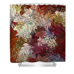 Naturaleaves - 88c02 Shower Curtain by Variance Collections