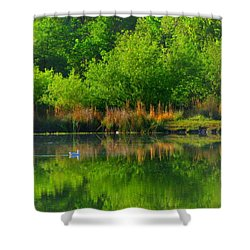 Naturally Reflected Shower Curtain by Joyce Dickens