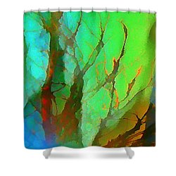 Natures Beauty Abstract Shower Curtain by John Malone
